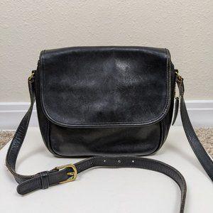 Vintage Coach Leather Crossbody Purse Black